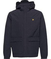 hooded pocket jacket dun jack blauw lyle & scott