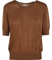 tory burch short-sleeve lightweight pullover