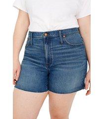 women's madewell high waist denim shorts
