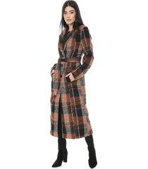 casaco colcci xadrez bege/preto - kanui