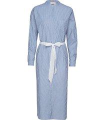 longer length shirt dress jurk knielengte blauw scotch & soda