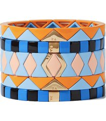nemo set of five enamel and gold-tone bracelets