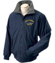 1 stop navy uss turner dd-834 portlander ship jacket sizes s through 4x