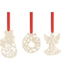 lenox 3-piece ornament charm set
