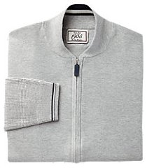 1905 collection tailored fit full-zip baseball men's sweater jacket