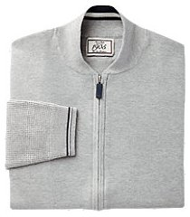 1905 collection tailored fit full-zip baseball men's sweater jacket - big & tall