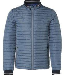 jacket, short fit, dull nylon, fake steel