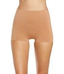 women's spanx 'everyday shaping panties' boyshorts, size medium - beige