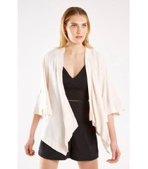 kimono malha silk frase sacada feminino