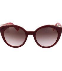 óculos de sol furla sfu153 09fd/51 bordô