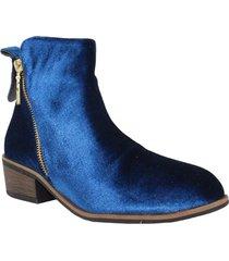 botines terciopelo azul wanted mia 828