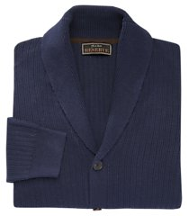 reserve collection cotton & wool shawl collar cardigan men's sweater clearance