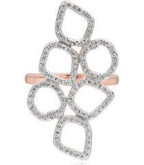rose gold riva mini cluster cocktail diamond ring diamond