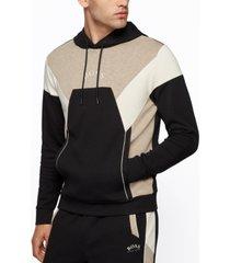 boss men's color-blocked hooded sweatshirt
