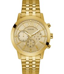 guess men's gold-tone stainless steel bracelet watch 45mm