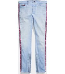 tommy hilfiger women's adaptive stripe jegging light wash - 8