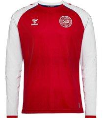 dbu 20/21 home jersey l/s t-shirts football shirts röd hummel
