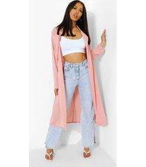duster jas met kraag, dusky pink