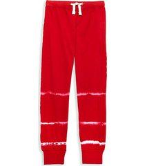 girl's streak tie-dye cotton joggers