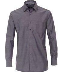 casamoda heren overhemd contrast boord non iron kent comfort fit