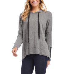 women's karen kane sleeve detail pullover hoodie