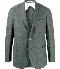 barba jimmy long sleeve blazer - green