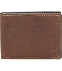 men's frye logan leather wallet - brown
