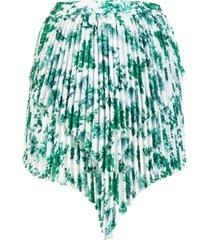 wandering printed pleats mini skirt