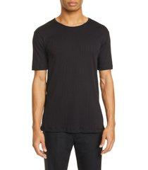men's lemaire rib organic cotton blend t-shirt, size medium - blue