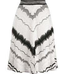 missoni elasticated intarsia knit skirt - white
