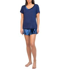 tahari short sleeve and short pajama set, online only