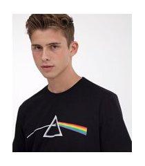 camiseta comfort fit estampa pink floyd prism | pink floyd | preto | m