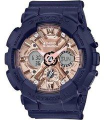 reloj casio gma-s120mf-2a2 anadigi 100% original-rosado