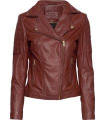 biker jacket leren jack leren jas rood depeche