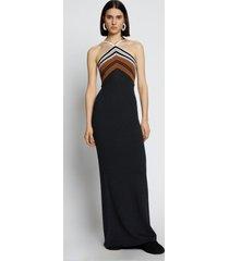 proenza schouler crimp knit halter dress black xxl