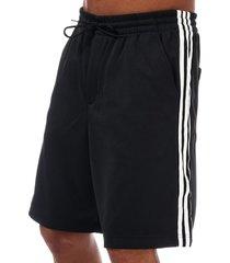 mens y-3 stripe track shorts
