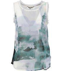 garcia polyester top spring white