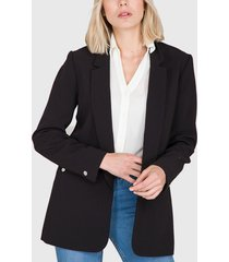 blazer  ash con boton decorativo en bolsillo negro - calce regular