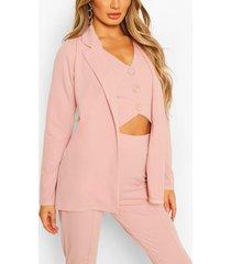 tailored blazer, light pink
