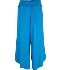 pantaloni culotte in viscosa sostenibile con cinta comoda (blu) - bpc bonprix collection