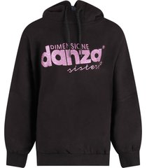 dimensione danza black sweatshirt for girl with purple logo
