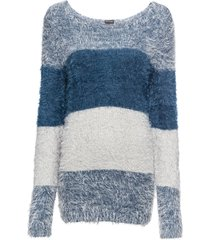 maglione a fasce in filato soffice (blu) - bodyflirt