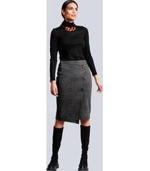 kjol alba moda antracitgrå::kopparfärgad