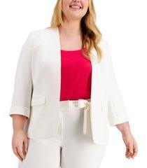bar iii plus size 3/4-sleeve blazer, created for macy's