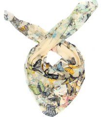 inc butterfly rose square scarf, created for macy's