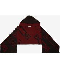 b-chain scarf burgundy 1