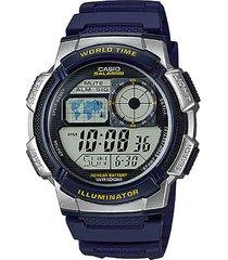reloj digital azul casio