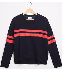 lou & grey sundry stripes oversized sweatshirt