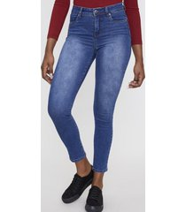 jeans básico push up skinny 1 botón azul oscuro  corona