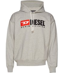 s-division sweat-shirt sweat-shirts & hoodies hoodies grijs diesel men